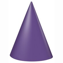 Purple Party Hats, 8ct