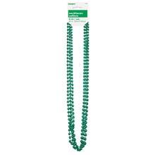 Metallic Green Bead Necklaces, 4ct