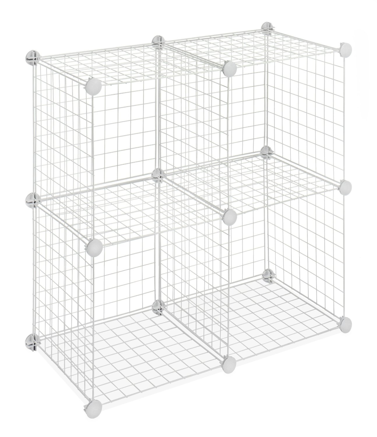 Whitmor Set of 4 Wire Storage Cubes, White