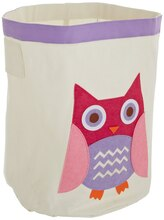 Whitmor Kid Canvas Storage Bin Pink Owl