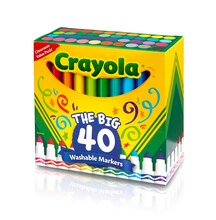 Crayola® The Big 40 Ultra-Clean Washable™ Broad Line Markers, medium