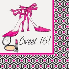 Girls Night Out Sweet 16 Beverage Napkins, 16ct