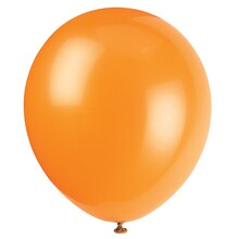 "12"" Latex Orange Balloons, 10ct"