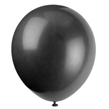"12"" Latex Black Balloons, 10ct"
