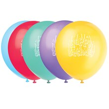 "12"" Latex Happy Birthday Balloons, Assorted 8ct"