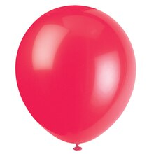 "12"" Latex Red Balloons, 10ct, medium"