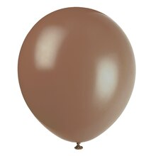 "12"" Latex Brown Balloons, 10ct"