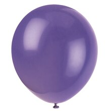"12"" Latex Amethyst Purple Balloons, 10ct"