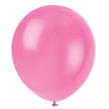 "12"" Latex Bubblegum Pink Balloons, 10ct"