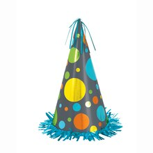 Jumbo Polka Dot Party Hat Centerpiece Decoration, 13""