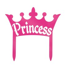 Plastic Princess Crown Cake Topper