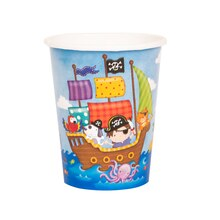 9oz Pirate Ship Paper Cups, 10ct