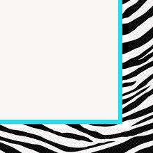 Teal Zebra Print Luncheon Napkins, 16ct