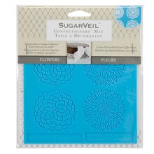 SugarVeil Confectioners' Mat, Flower Toppers In Package