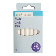 Assorted Jumbo Chalks By Creatology, White Pack
