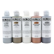 Golden Iridescent Fluid Acrylics 8oz., Iridescent Copper Light (Fine)