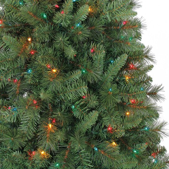 7 ft pre lit green willow pine artificial christmas tree multicolor lights by ashland - Pre Lighted Christmas Trees