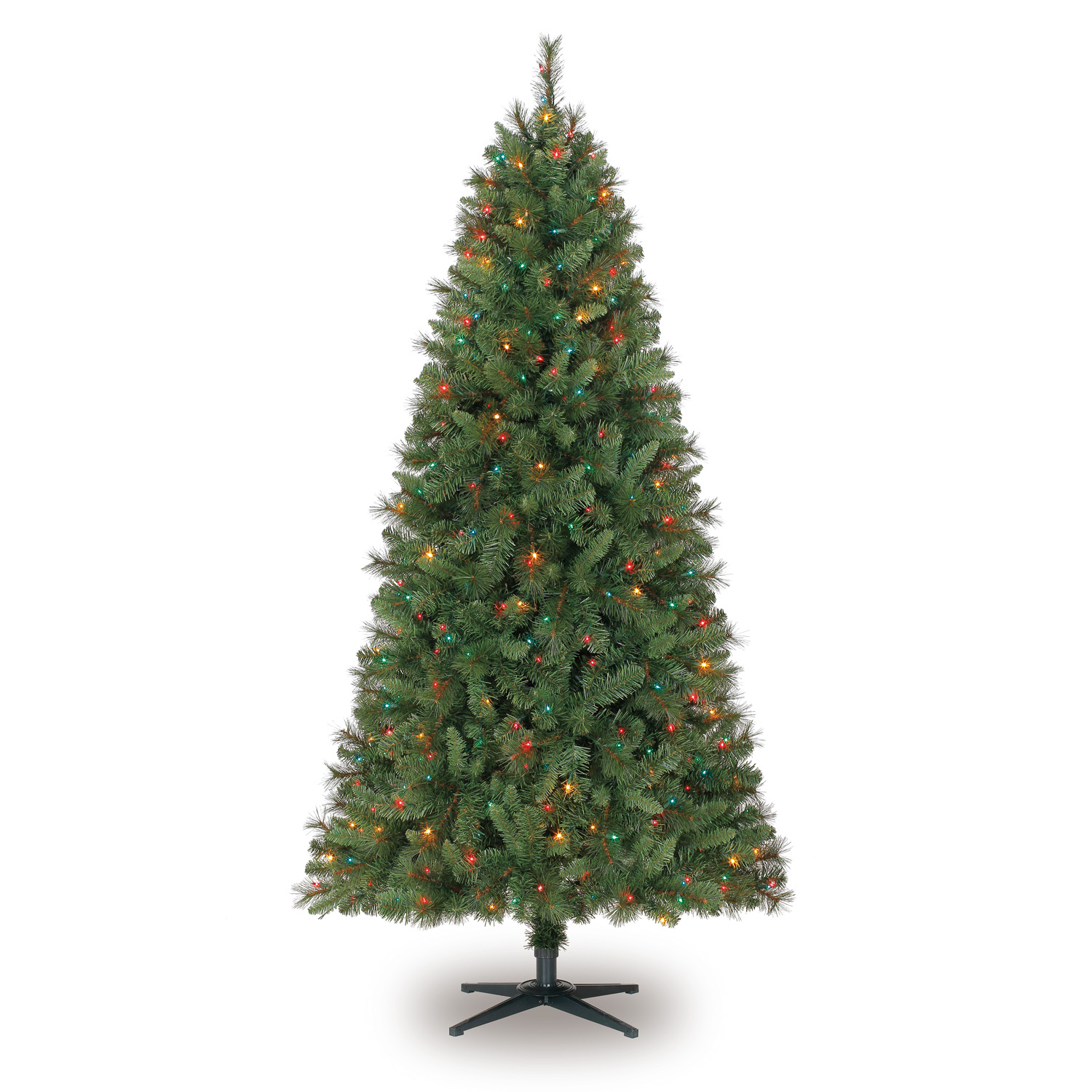 7 Ft. Pre-Lit Green Willow Pine Artificial Christmas Tree ...