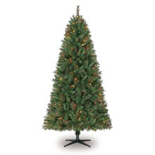 Celebrate It Pre-Lit Willow Pine Christmas Tree, Multi, 7 ft.