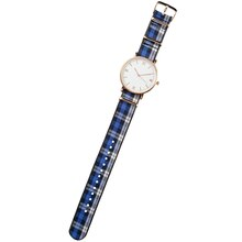Plaid & Gold Watch By Bead Landing