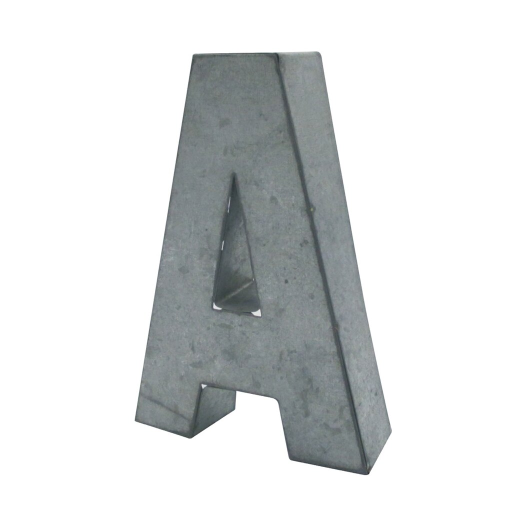 "Galvanized Letters For Sale 5.75"" Galvanized 3D Letterartminds®"