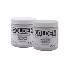 Golden Heavy Body Interference Acrylics 8oz. Interference Blue (Fine)