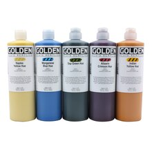 Golden Historical Fluid Acrylics 16 oz., Viridian Green Hue