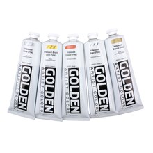 Golden Heavy Body Iridescent Acrylics 5oz. Iridescent Stainless Steel (Coarse)