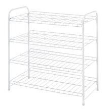 Whitmor 4 Tier Closet Shelves, White
