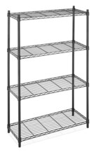 Whitmor Supreme 4-Tier Shelving, Black