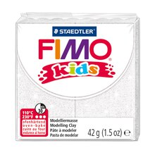 FIMO Kids Glitter Modelling Clay, White Pack