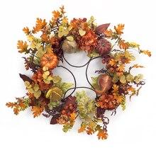"""32"""" Foliage & Gourd Wreath"""
