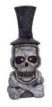 "19"" LED Skull with Top Hat"