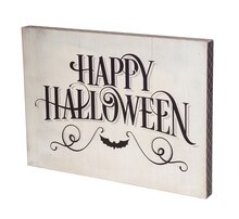 "13.75"" Happy Halloween Wall Plaque"