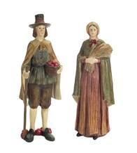 "14"" Thanksgiving Pilgrim, Set of 2"