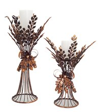 Wheat Candle Holder, Set of 2