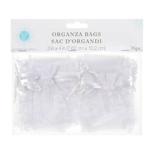 Victoria Lynn White Organza Favor Bags In Package