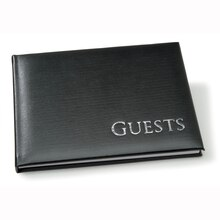 Black Sign-In Guestbook