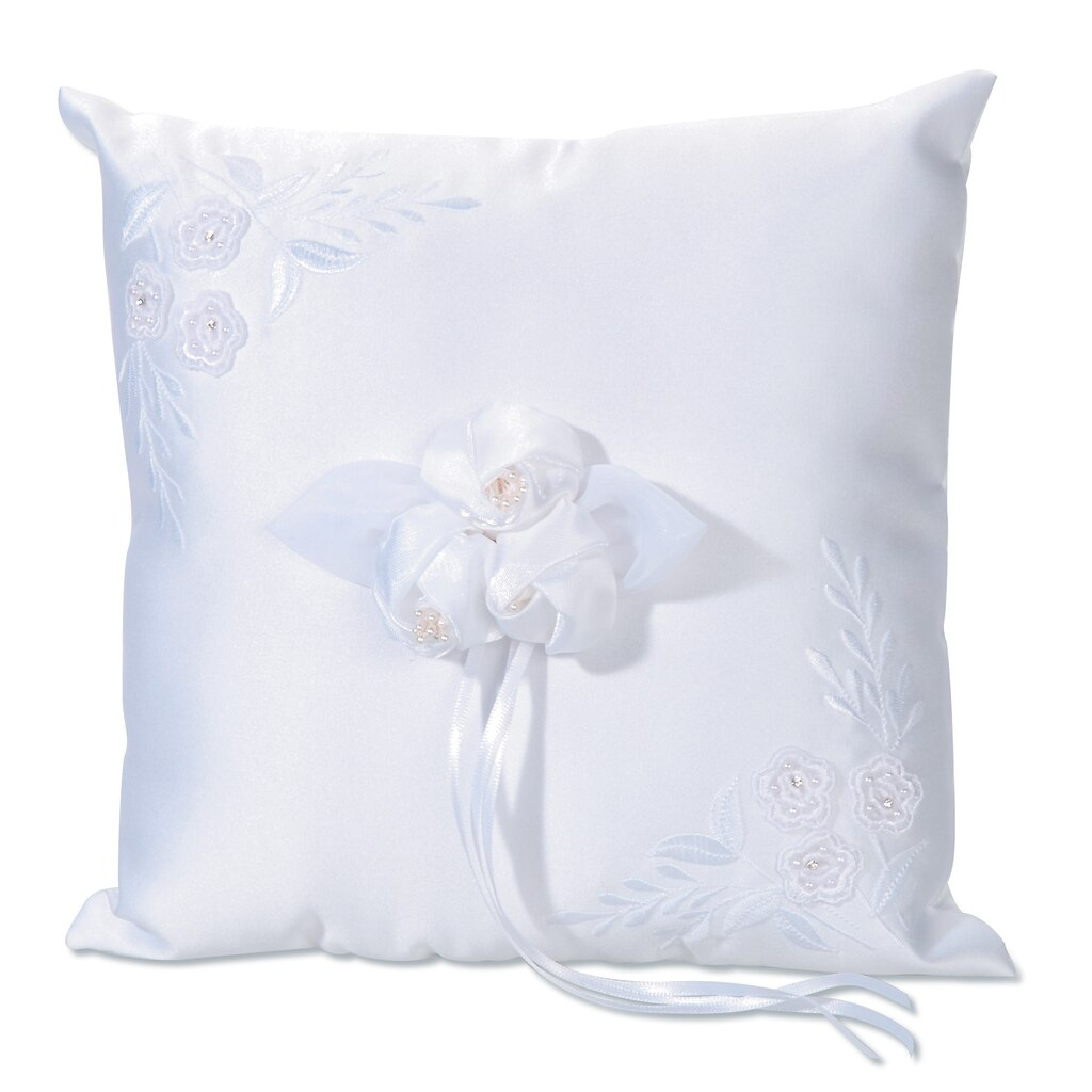 Victoria Lynn Embroidered Wedding Ring Bearer Pillow Square