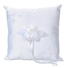 Victoria Lynn Embroidered Wedding Ring Bearer Pillow, Square