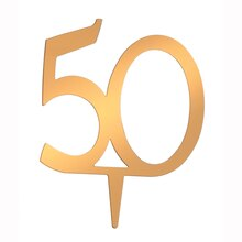 Victoria Lynn Cake Topper Gold Number 50