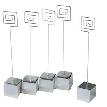 Victoria Lynn Silver Cube and Wire Place Card Holders