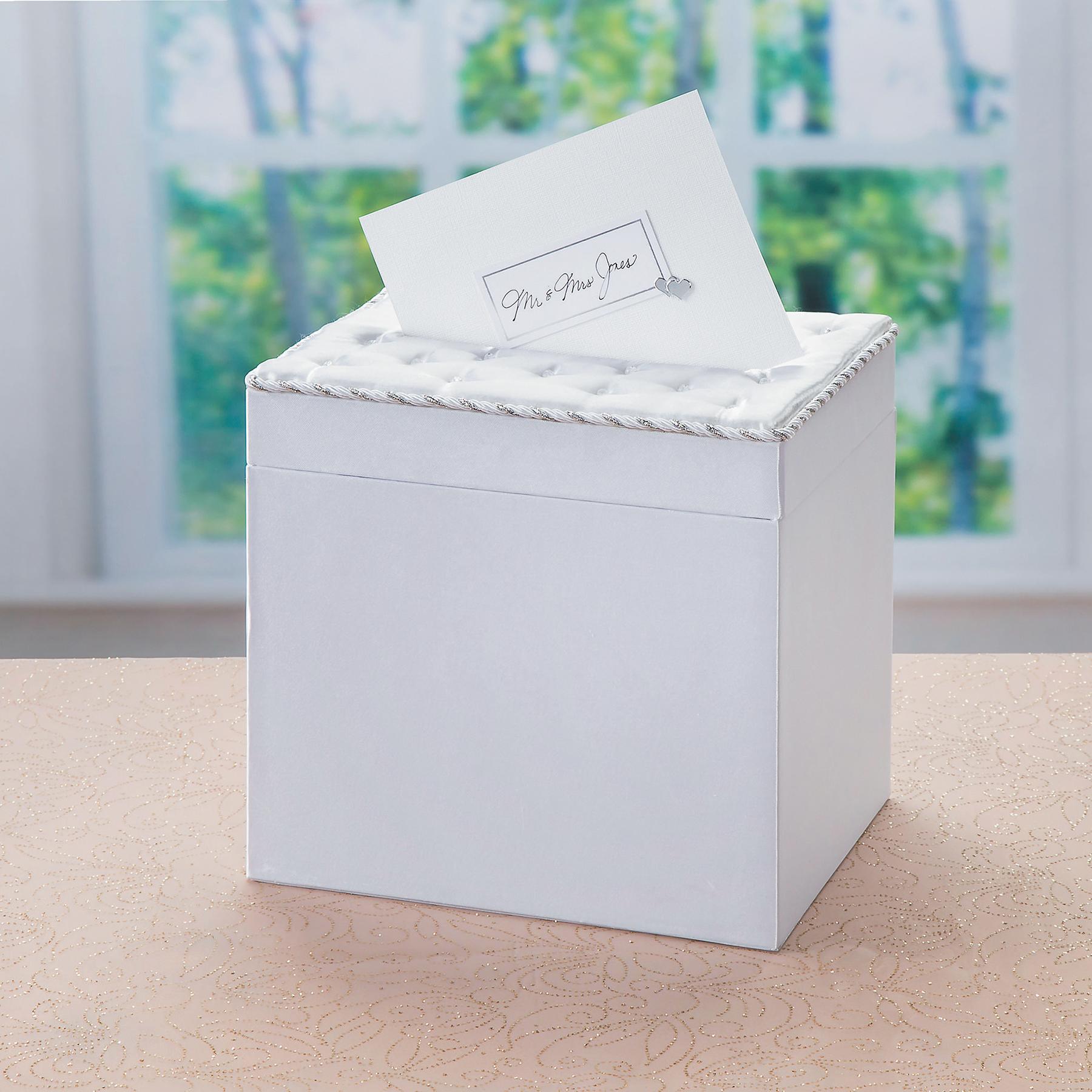 Victoria Lynn Wedding Gift Card Box with Crystal Accents