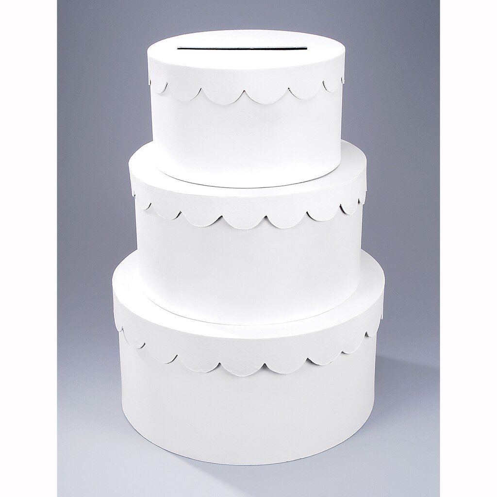 Victoria lynn 3 tiered cake paper mch gift card box negle Choice Image