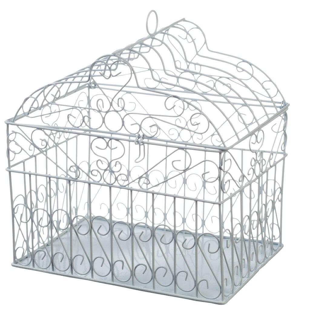 Birdcage Gift Card Holder, White