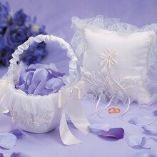 Victoria Lynn Flower Girl Basket Baby Rose, Cream