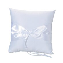 Victoria Lynn Design Your Own White Ribbon Ring Pillow