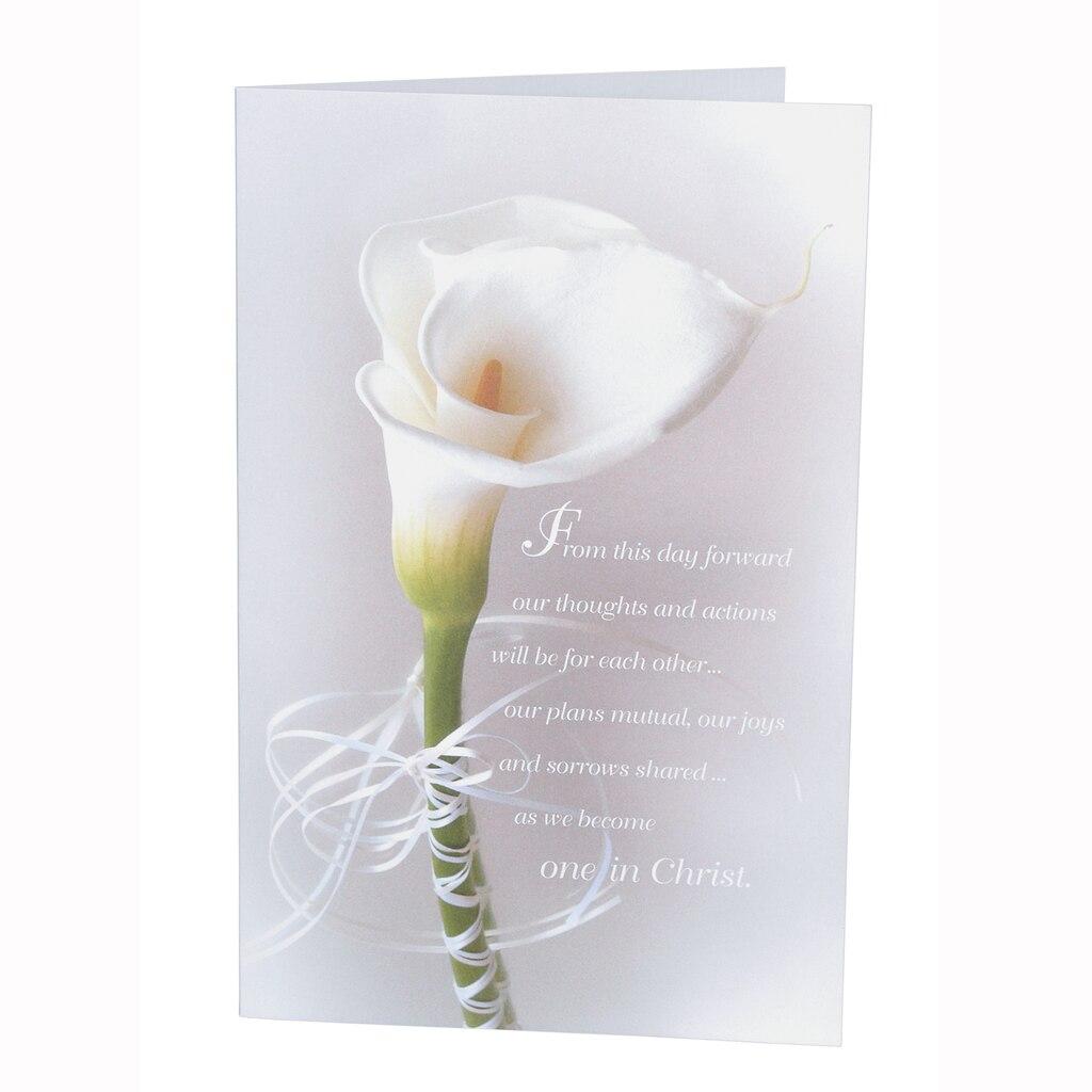 100 Preprinted Blank Wedding Programs, Calla Lily Design