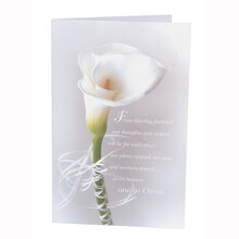 Victoria Lynn Wedding Programs, Single Calla Lily Design
