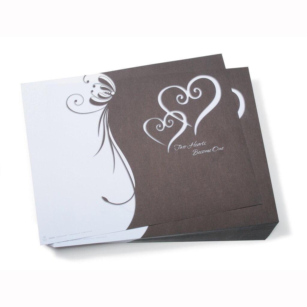 victoria lynn wedding programs double heart design - Paper For Wedding Invitations